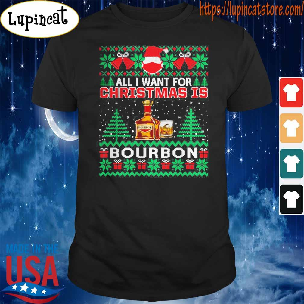 All I Want For Christmas Is Bourbon Ugly Christmas 2020 sweater