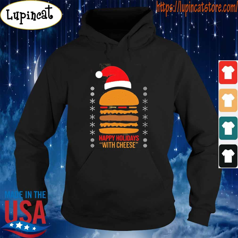 Official Samuel Jackson Happy Holidays With Cheese Shirt Hoodie