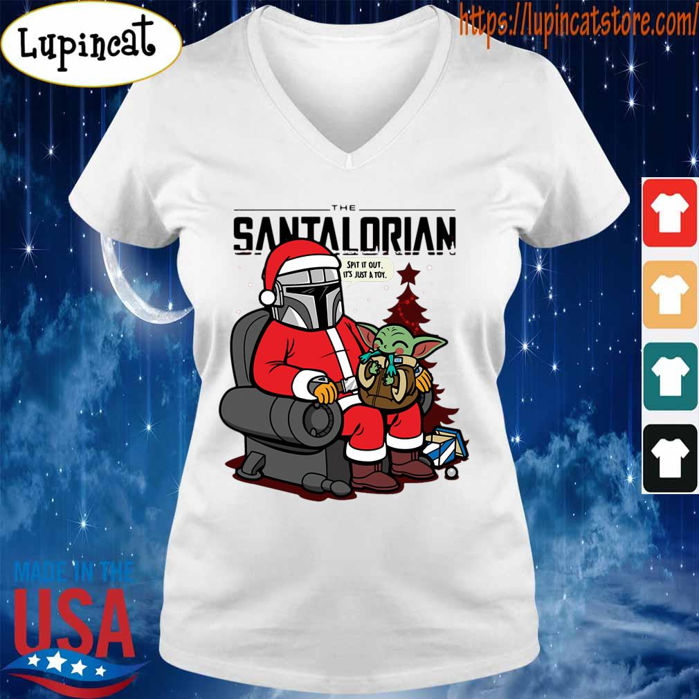 Official The Santalorian and Baby Yoda Spit it out it's just a toy Christmas 2020 s V-neck