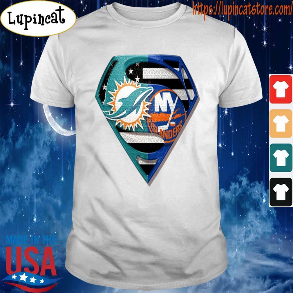 Superman Miami Dolphins vs New York Islanders 2020 shirt