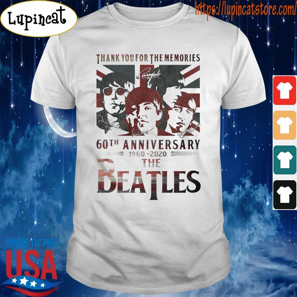 The Beatles 60th anniversary 1960 2020 thank you for the memories signatures American shirt
