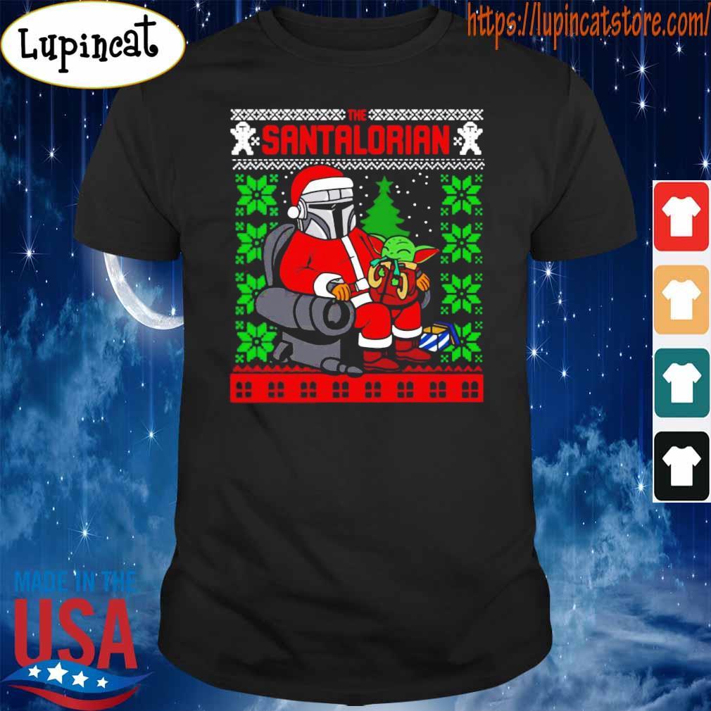 The Santalorian and Baby Yoda Ugly Christmas 2020 sweatshirt