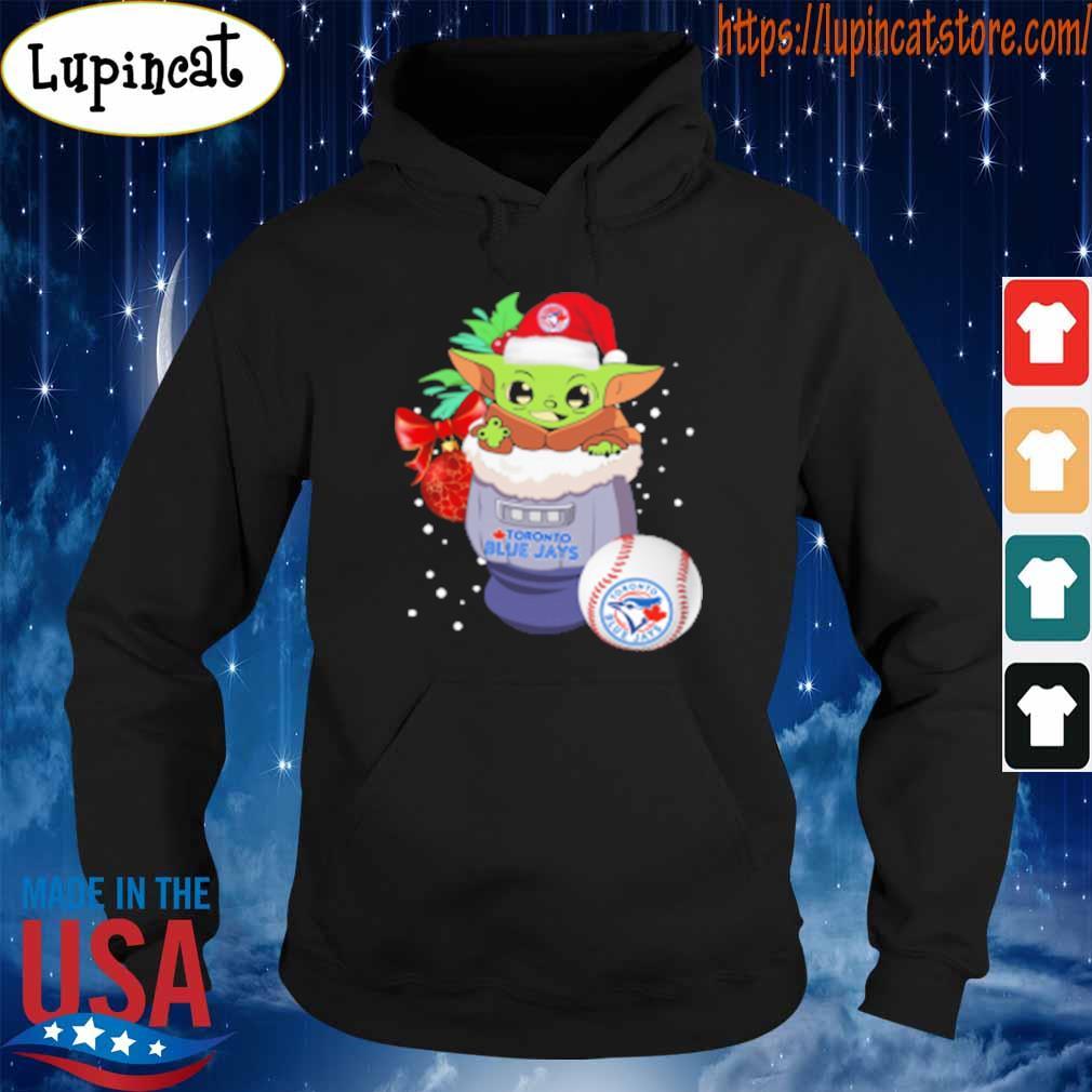 Toronto Blue Jays Christmas Baby Yoda Star Wars Funny Happy MLB T-Shirt Hoodie