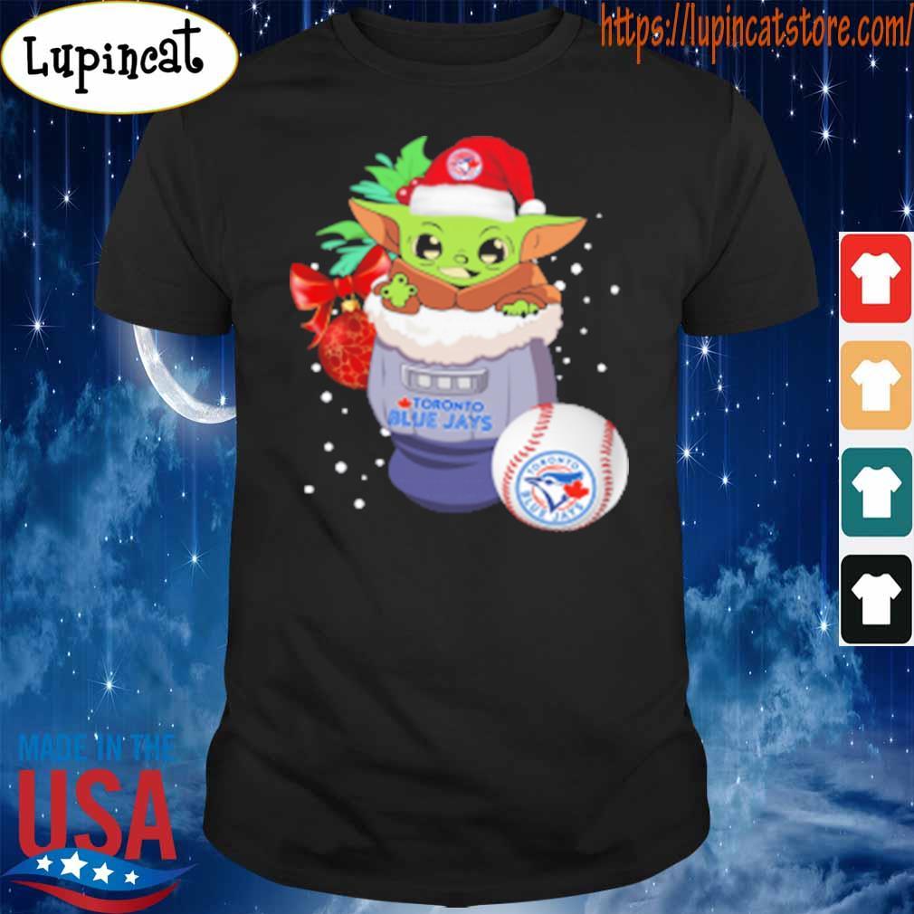 Toronto Blue Jays Christmas Baby Yoda Star Wars Funny Happy MLB T-Shirt