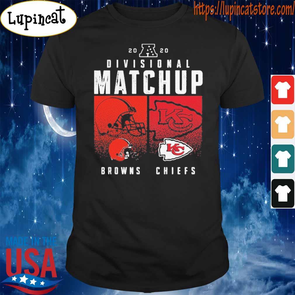 Cleveland Browns VS Kansas City Chiefs 2020 Nfl Playoffs Divisional Matchup T-Shirt