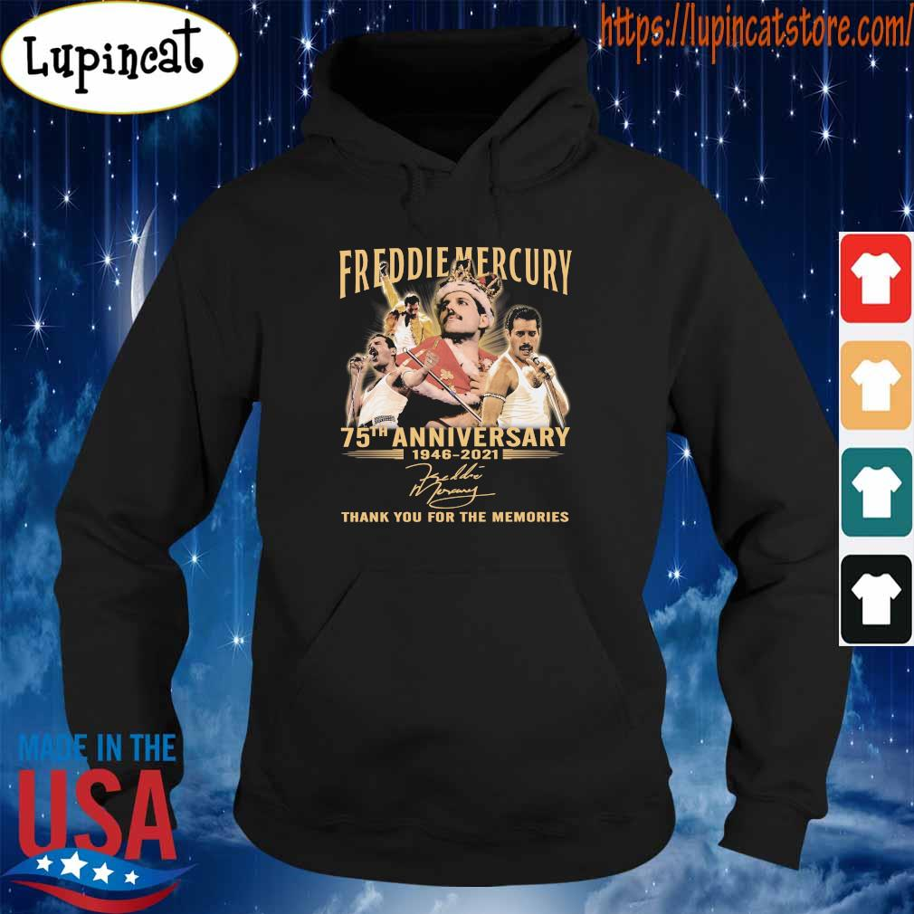 Freddie Mercury 75th anniversary 1946 2021 thank you for the memories signatures s Hoodie