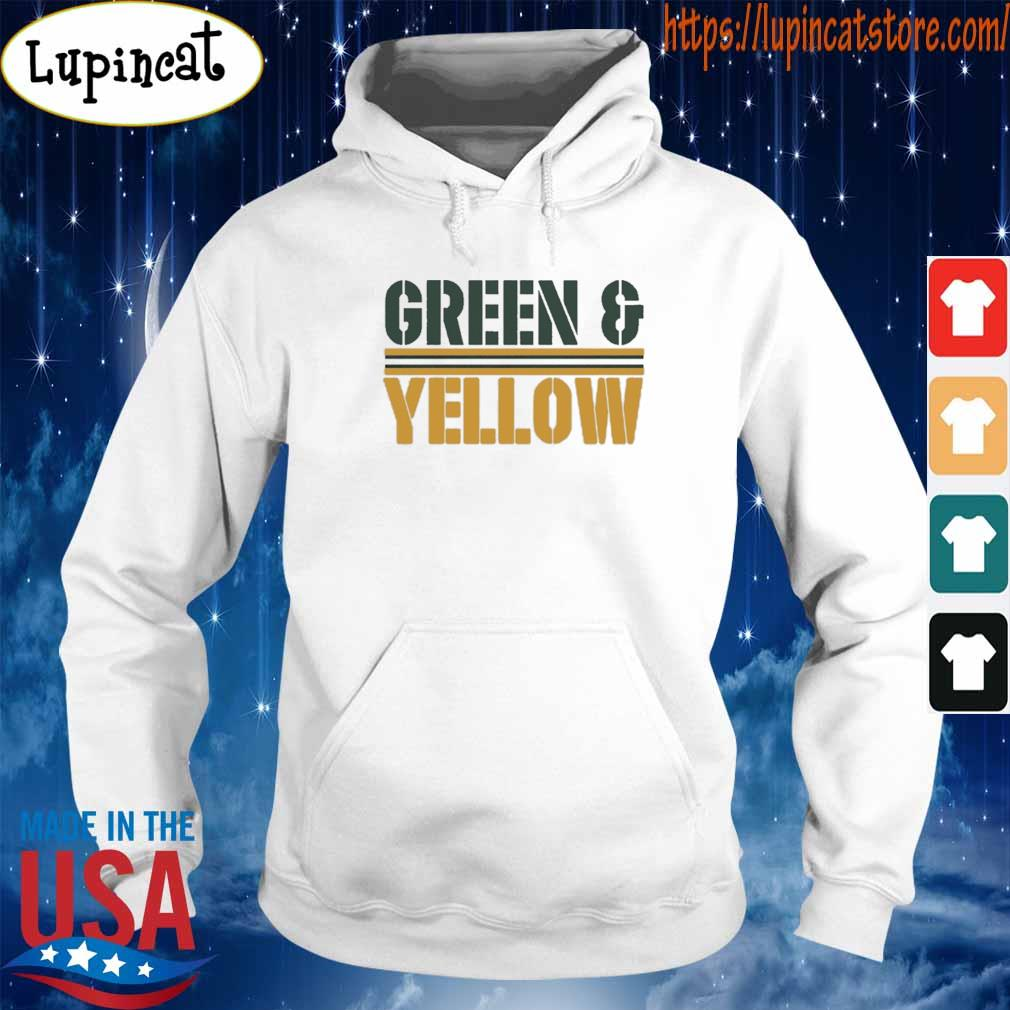 Green Bay Packers and Yellow Shirt Hoodie