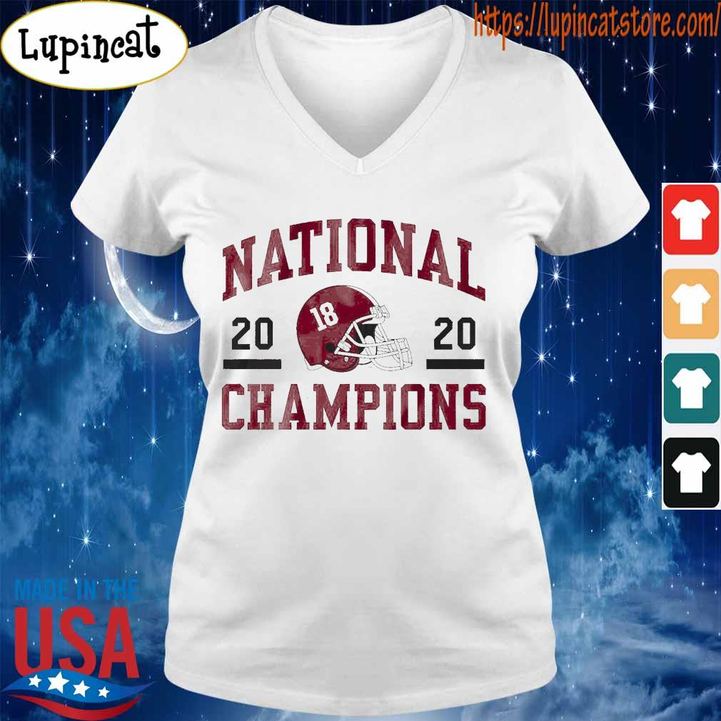 Official 18 Alabama Crimson Tide national champions 2020 tee s V-neck