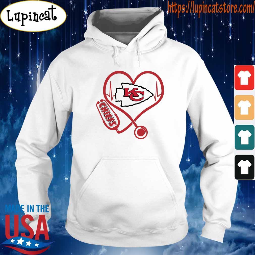 Official Kansas City Chiefs Nurse Stethoscope heart s Hoodie
