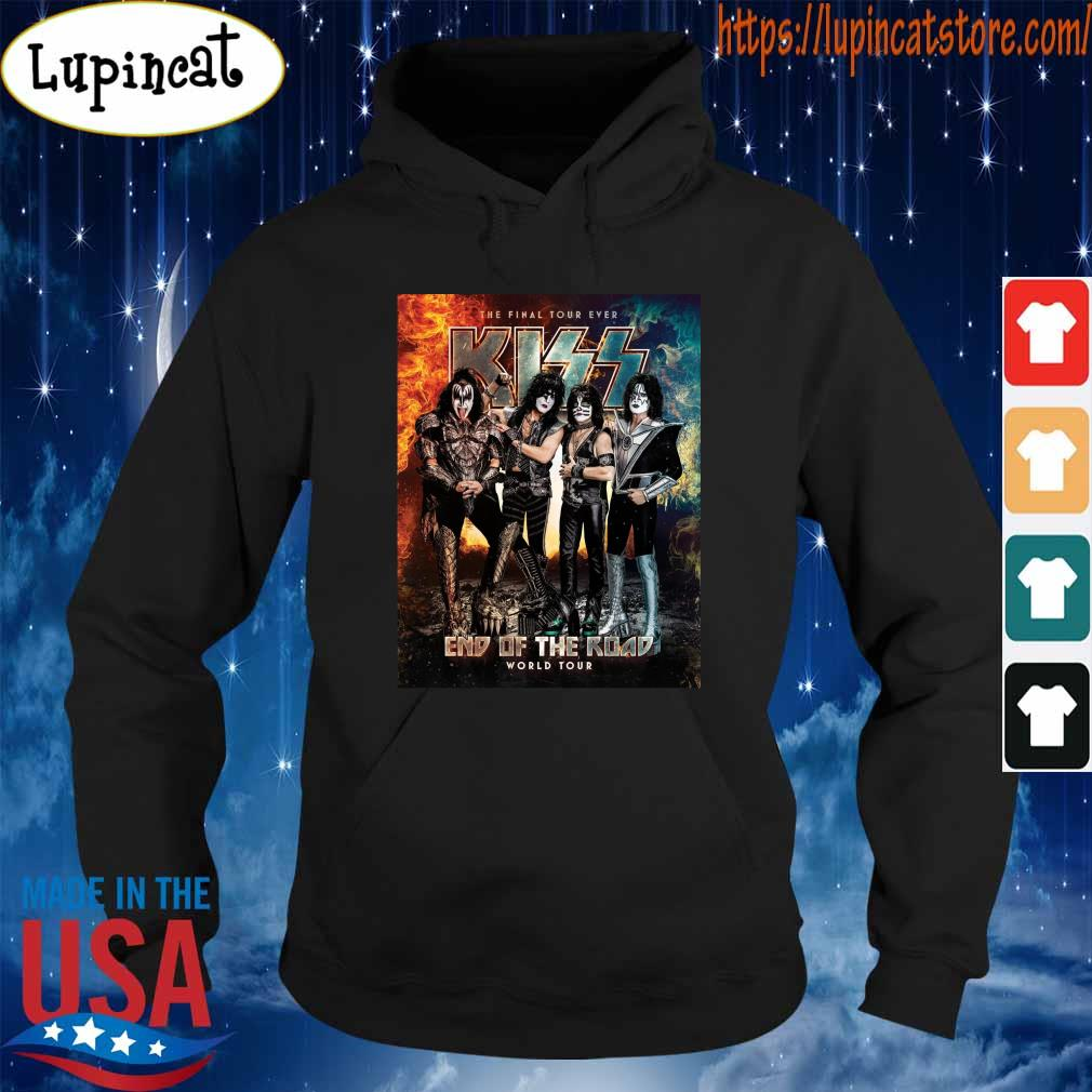 Official Kiss Band end of the Road world Tour 2021 s Hoodie