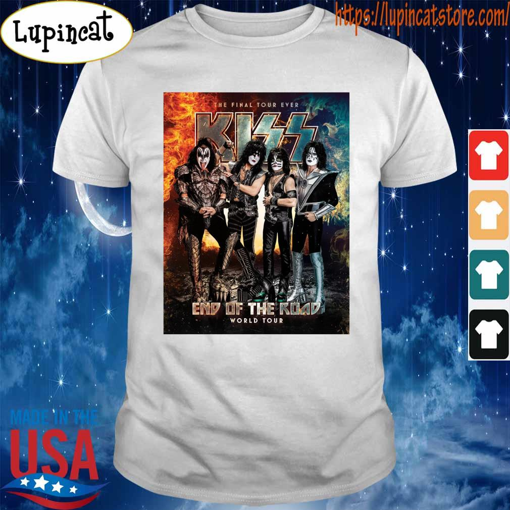 Official Kiss Band end of the Road world Tour 2021 shirt
